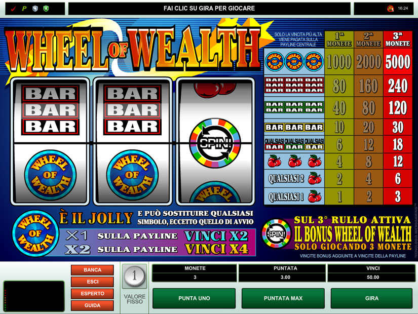 classic slot wheel of wealth
