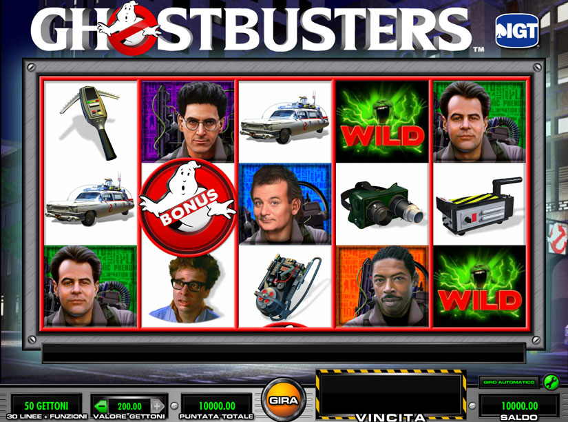 ghostbusters slot 5 rulli
