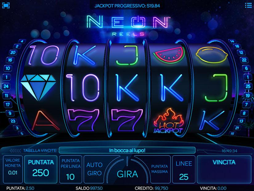 slots 5 rulli neon reels