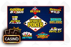 video poker logos