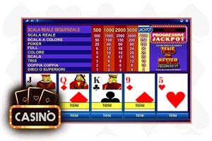 video poker progressive